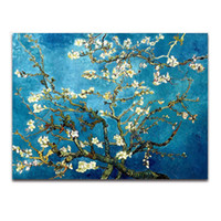 Wholesale Almond Canvas - Paintings Blossoming Almond Tree By Van Gogh Oil Painting Printed On Canvas Home Art Decor