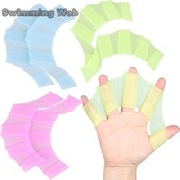 Wholesale Hand Fins For Swimming - Silicone Swimming Web Hand Swimming Fins Frog Flippers Swim Palm Finger Webbed Gloves Paddle Universal Swimming With For Children Women Men