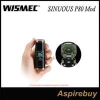 Wholesale Button Battery Box - Wismec SINUOUS P80 Box Mod 80W Compact Single 18650 Battery Hidden Fire Button with 0.96-inch Screen for Elabo Mini 100% Genius