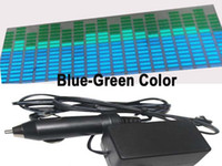 Wholesale Product Width - New Product Length 70cm Width 16cm Green -Blue Color El Sticker Super Quality Led Equalizer Sound Acitivated Panel With Cigarette