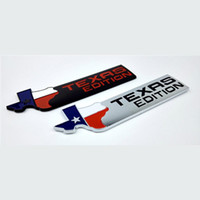 Emblèmes Auto Ailés Pas Cher-TEXAS ÉDITION Trunk Auto Tail Emblem TEXAS Side Wing Badge Auto Fender Autocollant pour JEEP Renegade Wrangler Patriot Cherokee SUV