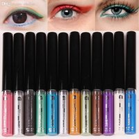 Wholesale Mineral Eye Liner - Wholesale-New Brand 1PC Waterproof Glitter eyeshadow Diamond Pearl Colorful Mineral liquid Eye shadow Eye Liner Makeup Multicolor