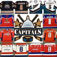 Wholesale Cheap Hockey Jerseys Washington - Throwback Jersey 8 Alexander Ovechkin 2004 Team Russia Washington Capitals 2005 Ovechkin Cheap Hockey Jerseys Throwback Stitched Logo