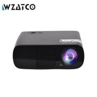 Wholesale cheap tv projectors - Wholesale-ATCO Cheap Portable LED TV Projector proyector Home cinema LCD Projetor HDMI USB beamer 3000Lumens for home theater
