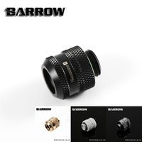 Wholesale Fits Computer Cases - Wholesale- Barrow White Black Silver OD12mm Hard tube fitting hand compression fitting G1 4'' OD12mm hard pipe TYKN-K12 V4