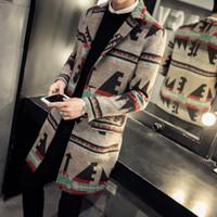 Wholesale mens wool jacket pea coat - Wholesale- men jacket woolen fashion 2016 new winter men wool pea coat single breasted casual long mens coat plus size overcoat windbreaker