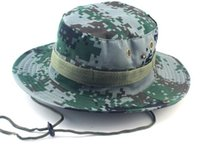 Wholesale Camouflage Stocking Hats - IN stock! Military Camouflage Bucket Hats Camo Fisherman Hats Sun Wide Brim Sun Fishing Bucket Caps Camping Hunting Hat Chapeau Green Khaki