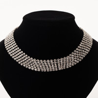 Wholesale Fashion Jewelry Wedding Nickel Free - YFJEWE Multiple rows rows Clear Crystal Necklace sliver plated Color Fashion Jewelry Nickel Free Austria Crystal necklace