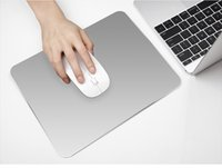 Aluminum alloy oversized computer mouse - Aluminum alloy custom made Non slip Oversized Game mouse pad Fashion desk mats for Apple HP Dell Computer