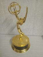 Wholesale Metal Awards - Emmy Awards Trophy Replica TV trophy   Metal Emmy Trophy 28cm Statuette Metal Replica Gold Zinc Alloy