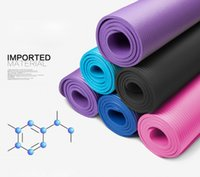 Wholesale Factory outlet mm Genuine high density yoga mat lengthened cm thick cm wide movement fitness pad Random color
