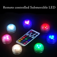 Wholesale Fountain Candles - Wholesale- 10pcs set LED Aquarium Diving Light with Remote Control Waterproof Lighting Electronic Candle Lights Fish Tank Lamp 5 Colors Hot