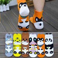 Cartoon Zoo Mulheres Meias Jovem interesse Animal Adolescente joelho-meias Meias Moda Coreano Pure Cotton Cat Tigre Vaca Raccoon Adulto Meias A6322