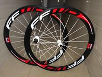 Wholesale Cyclo Cross - 700C carbon wheels tubular 50mm road cyclo cross wheelset 23mm width UD matte with disc brake wheelset