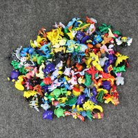 Wholesale Wholesale Kids Collectables - 144 pcs set Anime Poke Pikachu PVC Action Figure Collectable Model Toy for kids gift free shipping retail