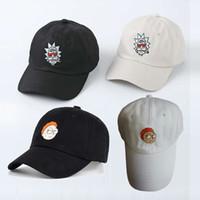 Wholesale Caps Comics - Rick and Morty Hats Rick Caps Dad Hat Adjustable High Quality Cotton Baseball hat Cap Snapback