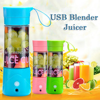 outdoor glassware - 380Ml USB Fruit Juicer Portable Rechargeable Electric Blender Juicer Personal Juicer Mixer Bottle For Outdoors Activities