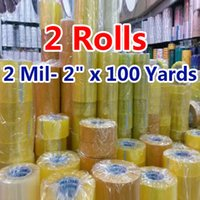 Wholesale Paper Rolls Ribbons - Wholesale- 2016 2 rolls 1.8*0.6 inch Packing Tape Adhesive Tape Film Paper Adhesive Strapping Gift Ribbon Office Adhesive Tape