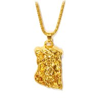 All'ingrosso-Bling grande e Hip piece Collana pesante oro 24K placcato Gesù pop Gesù Pendant + 75 catena monili liberi 2016 WomanMen