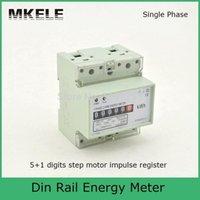 Wholesale Digital Watt Hour Meter - 10(60)A 230V Digits Step Motor Impulse Register MK-LEM011AG Single Phase Din Rail KWH digital Watt Hour Din-rail Energy Meter