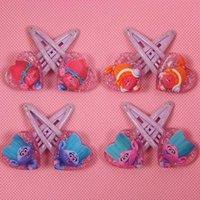 Wholesale Cute Kid Hair Claw Clips - Trolls Baby Hair Clips Boutique Cartoon Hairpins For Girls Kids Trolls Hair Accessories Children Acrylic Barrettes Cute Headdress