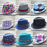 Wholesale Canvas Kids Fedora - Baby Classical Canvas Caps Baby Kids Daily Hat Girls Sun Hat Children Summer Hat 29 styles 0601328