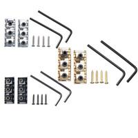 Wholesale Floyd Rose Tremolo Bridge System - Wholesale- New 2pcs lot Guitar Lock Nut Zinc Alloy 42mm for Floyd Rose Tremolo Bridge System Black Silver Golden Hot Sale