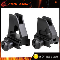 Wholesale Rifle Front Sight - FIRE WOLF High Quality Metal Front Sights rifle scope BK for 20mm rail Black hunting Factory Direct Wholesale
