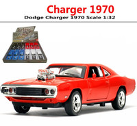 Wholesale Fast Cast - Dodge Charger 1970 Scale 1:32 Fast & Furious Car Model Die cast Vehicle Sound&lights Toys