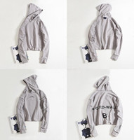 Wholesale Robin Hood - 2017 A-COLD-WALL . ACW High street tide male loose anti-wear OVERSIZE drop shoulder hoods letters printing couple sweater robin jeans