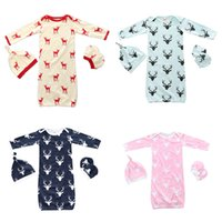 Wholesale Cheap Hats Gloves - INS Baby Sleeping Bags Children Swaddle Sack Autumn Soft Cotton Sleep Sets Hats Gloves Kids Christmas Clothing Cheap Factory Free DHL 423