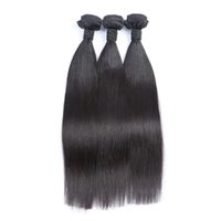 Wholesale indian tangle free hair weave resale online - unprocessed human hair extenisons peruvian straight human hair weaves bundles no shedding tangle free