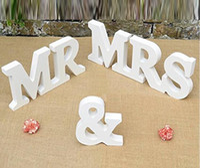 Wholesale Wholesale Wooden Christmas Items - DIY decoration English letters Wooden MR & MRS wedding items Wooden furnishing articles in English letters Bridal capital WT041