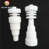 Wholesale ceramic domeless male universal resale online - Universal Domeless Ceramic Nail in1 mm mm mm Adjustable Male and Female