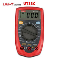 Wholesale Test Transistor Lcd - UNI-T UT33C Digital Multimeter Auto Range Can Test AC DC Current Transistor LCD