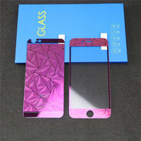 Wholesale apple diamond sticker for sale - Group buy 3D Rhombus Shape Screen Protector Full Body Screen Protector Bling Diamond Electroplating Sticker Film for iphone s plus s s OPP