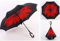 Wholesale Umbrella Printed Fabric - 2017 fashion7 styles high quality flower print unbrella cheap-umbrella super strong reverse-umbrella 50 pcs low drop price