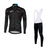 Wholesale Sky Long Sleeve Cycling Jersey - 2017 winter thermal fleece team sky cycling jersey long sleeve Quick-Dry Racing Bicycle ropa ciclismo bike cloth bib pants gel pad