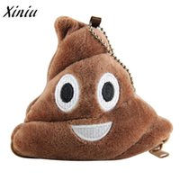 Wholesale Cheap Wholesale Womens Purses - Wholesale- Xiniu money tray Girls Pillow Plush Coin Purse With Soft Emoji Emoticon Womens Coin Purse Gift cheap wallets purse female #YLSW