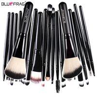 Wholesale 22pcs Makeup Brushes - Bluefrag Brochas Maquillaje Make Up Brushes Set Lip Powder Blusher Foundation Eye Makeup Brushes Kit Tools Pincel Maquiagem 22pcs
