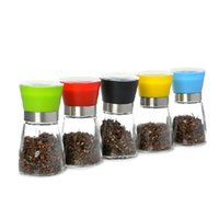 Wholesale Glass Spice Grinder - Kitchen Tools Home High Grips Glass Salt or Pepper Grinder,Spice Mill with Brushed Stainless Steel Glass Body Salt or Pepper Mill