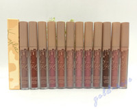 Wholesale More Free - NEW HOT Kylie Cosmetics Send Me More Nudes MATTE Lipstick 12 color dhl Free shipping+GIFT