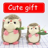 Wholesale Cute Hedgehogs Doll - 2017 factory direct holding flowers small hedgehog cute plush toy doll genuine birthday gift to send girlfriend to send children