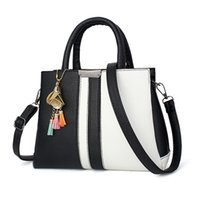 Wholesale Ladies Black Patent Totes - Brand New High - quality ladies Totes classic hot ladies PU leather handbags high - quality fashion Shoulder Bags(DFMP09)