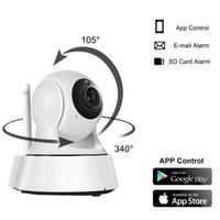 câmeras ao ar livre venda por atacado-2017 nova Segurança Doméstica Sem Fio Mini Câmera IP Câmera de Vigilância Wifi 720 P Câmera de Visão Noturna CCTV Monitor Do Bebê