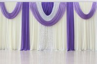 Wholesale Table Decorations Lavender - Fashion Mix Color Soft Ivory and Lavender Wedding Event Party Backdrop Drape For Wedding Stage Decoration Sets