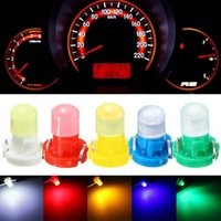 Wholesale Led Cluster Bulbs - 30pcs lot T3 LED Car Light Bulb Cluster Gauges Dashboard White Yellow Blue Red Green instruments Panel Climate Base Lamp Light