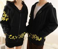 Wholesale Trafalgar Law Jacket Cosplay - Hot Sale Japanese Anime Cosplay Clothes One Piece Trafalgar Law Cosplay Costume Black Trafalgar Law Hoodie Jackets Coat