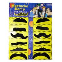 Wholesale Moustache Props - Wholesale-12pcs False Moustache Props False beard Masquerade New Year supply decoration boda Halloween supplies