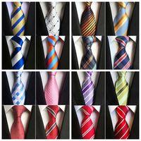 Wholesale Fashion Wholesalers Wool Dresses - 2017 Fashion 8cm silk Necktie Mens Dress Tie wedding Business dress Tie knot solid dress neckwear For Men have 51colors
